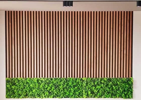 декоративные планки в зале