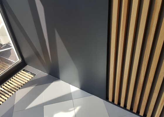 реечные планки в спальне