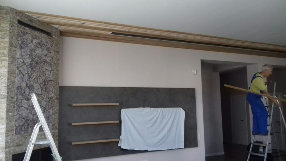 декоративные планки в спальне